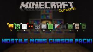 Minecraft Hostile Mobs Cursor Pack
