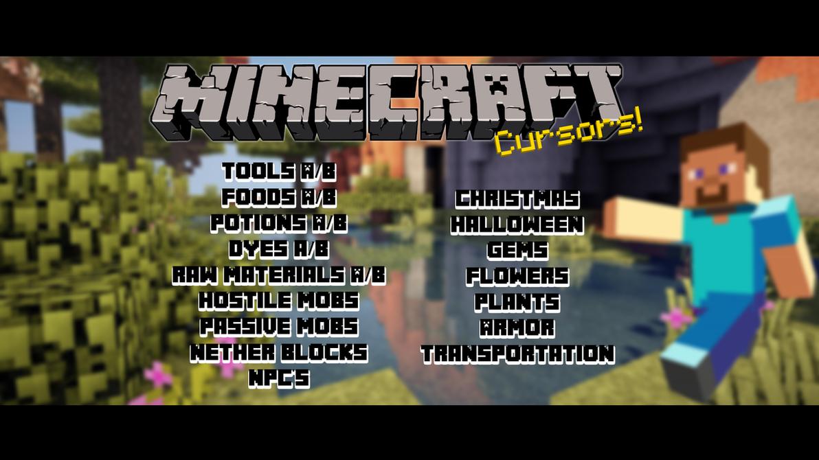 Group of Minecraft Gems Cursor Pack