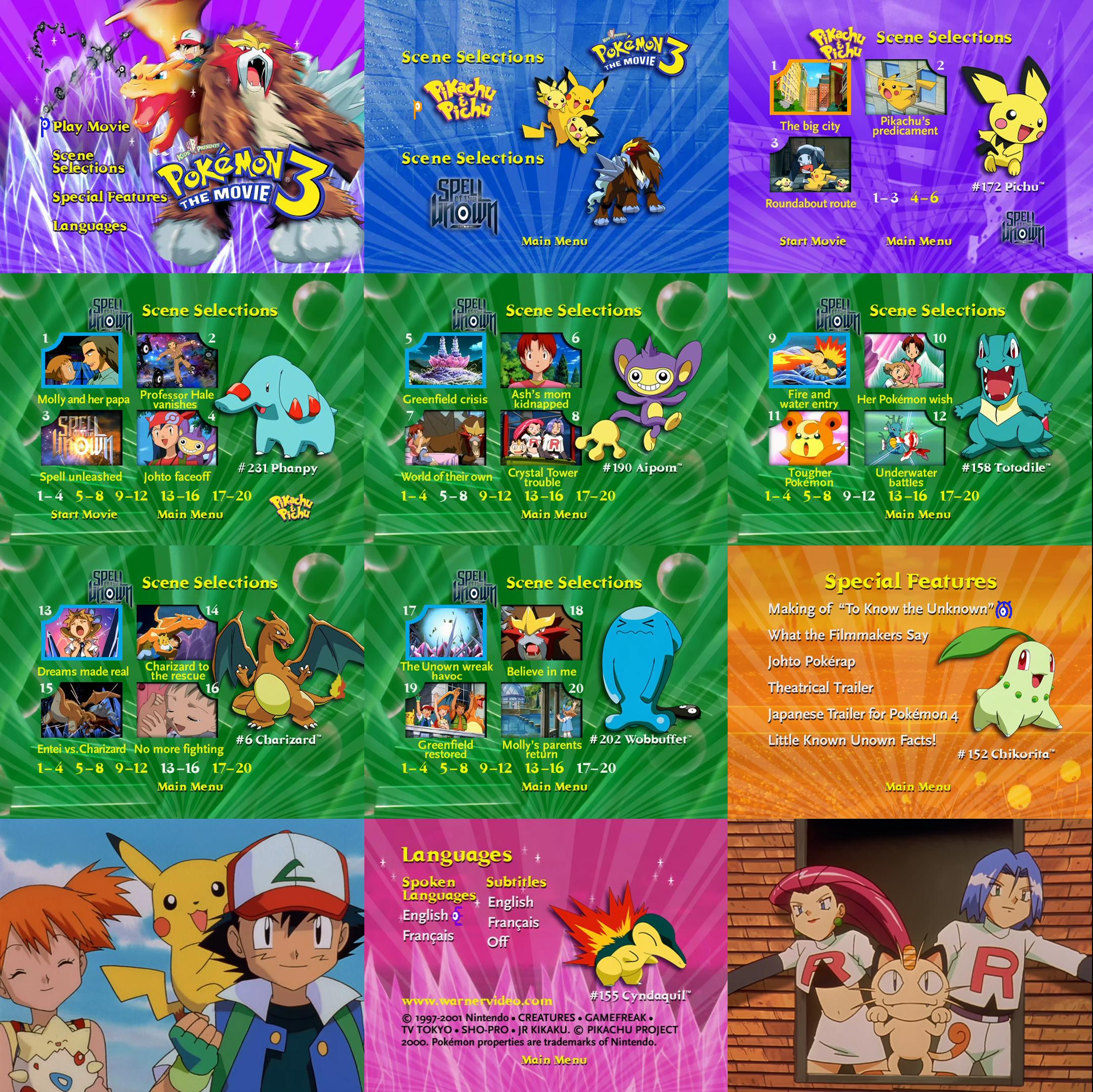 Pokemon The Movie 3 Dvd Menus By Dakotaatokad On Deviantart