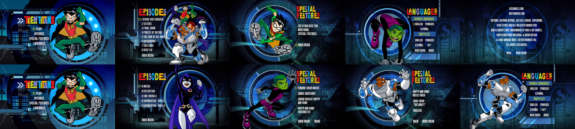 Teen Titans Season 1 Dvd Menus By Dakotaatokad On Deviantart-6862