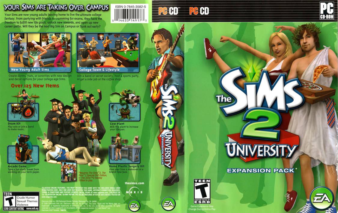 Sims 2 University PC CD-ROM Boxart by dakotaatokad on DeviantArt