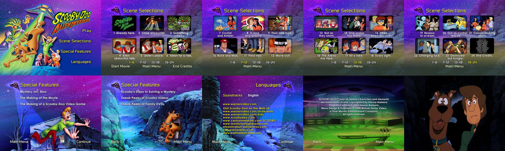 Scooby-Doo And The Alien Invaders DVD Menus by dakotaatokad on ... 59533143b