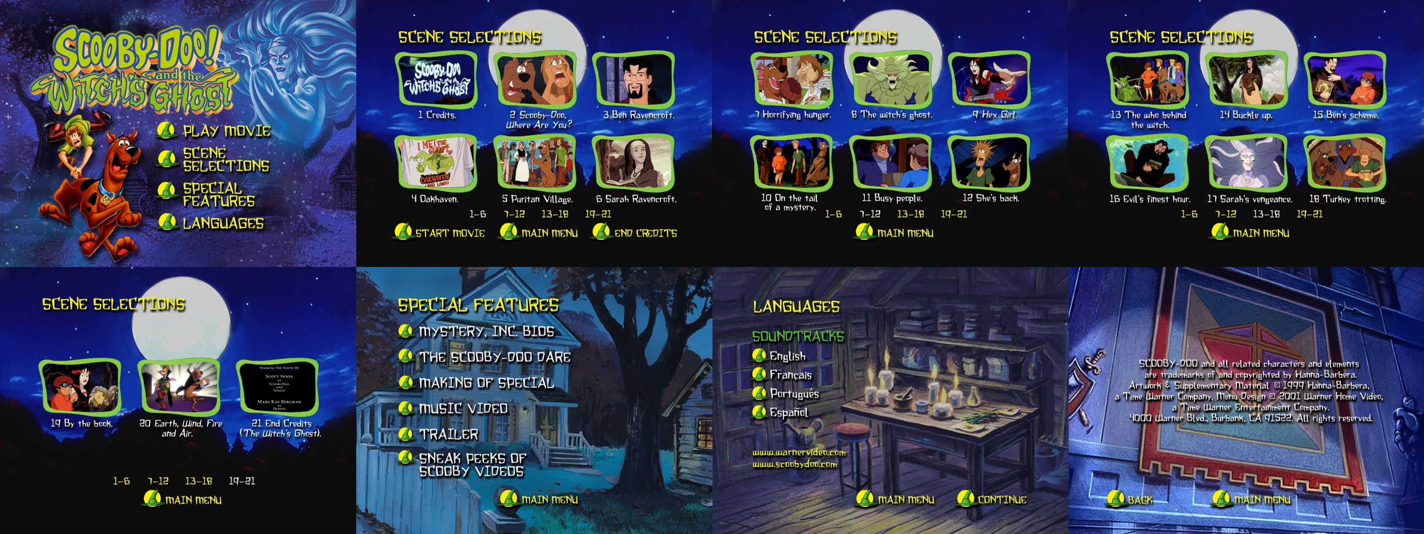 Scooby Doo And The Witches Ghost Dvd Menus By Dakotaatokad On Deviantart