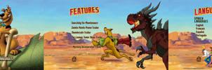 Scooby Doo Legend of the Phantosaur DVD Menus
