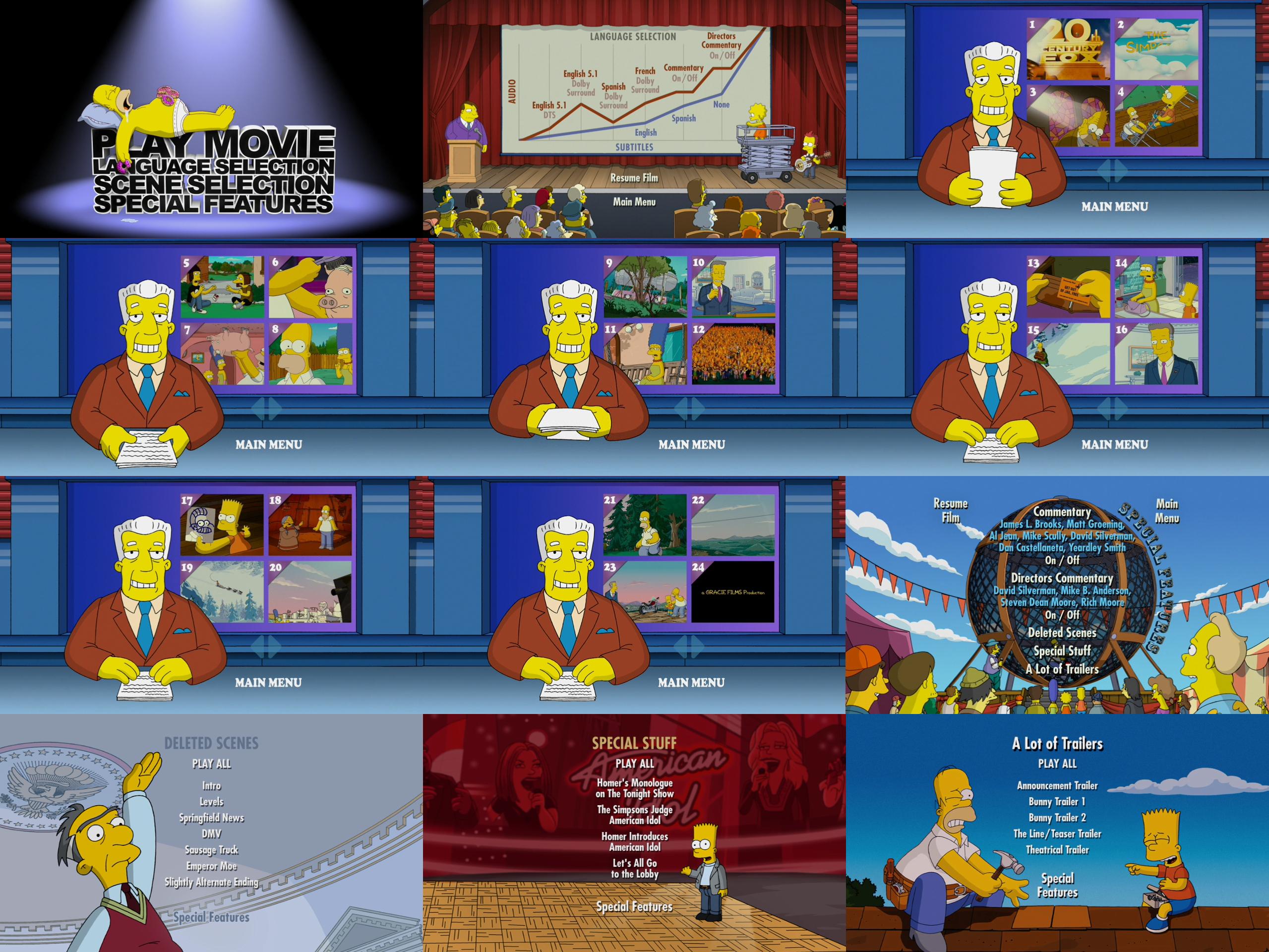 The Simpsons Movie Dvd Menus By Dakotaatokad On Deviantart