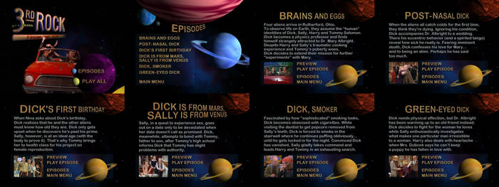 3rd Rock From The Sun Season One DVD Menus