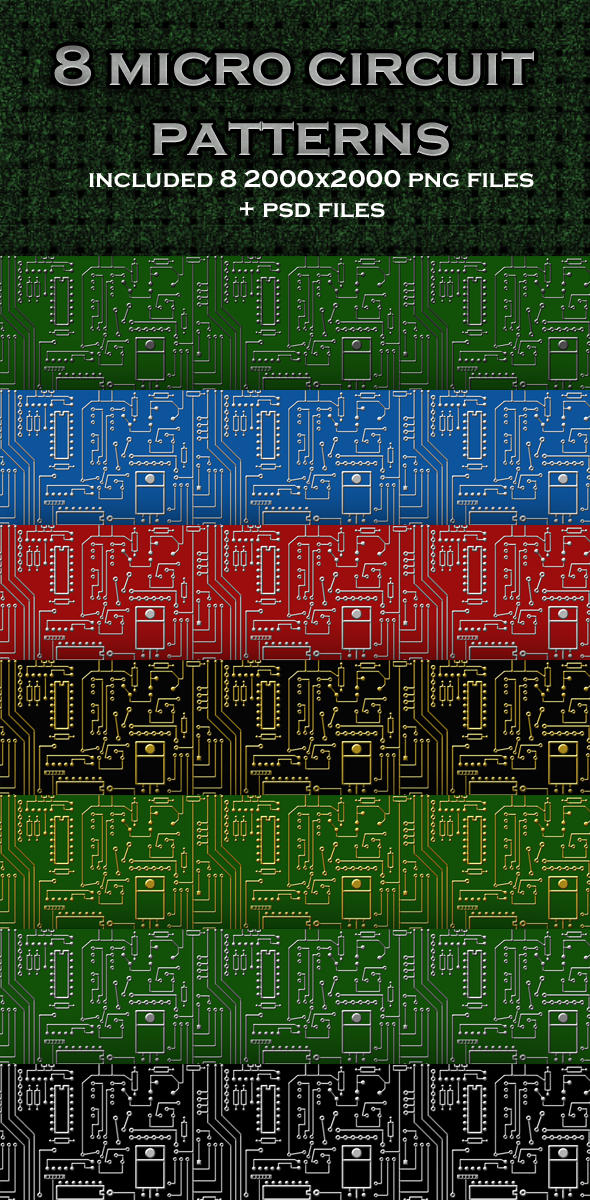 Micro Circuit Patterns by sarthony on DeviantArt