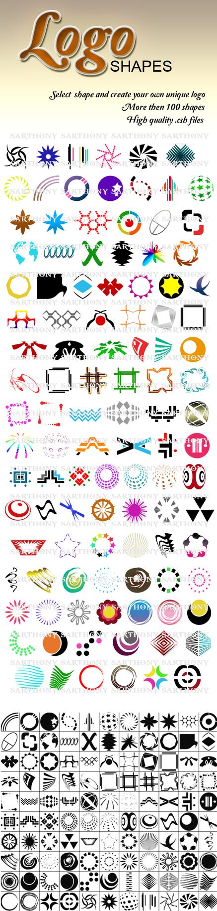 104 Logo Shapes by sarthony