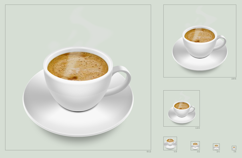 coffee cup icon by hbielen