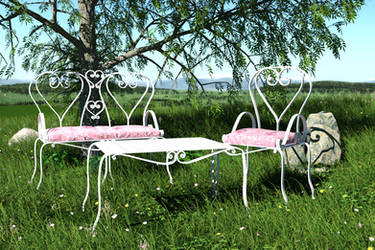 Garden Set  for DAZ Studio by kratzdistel