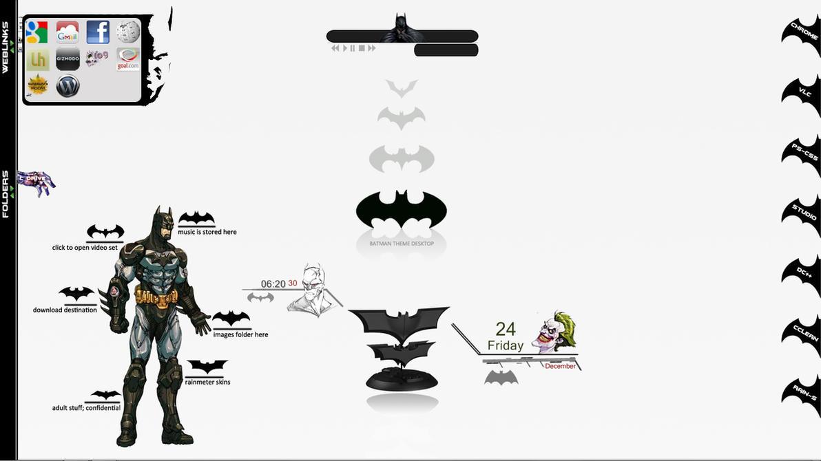 Batman Rainmeter Skins by scrollsofaryavart