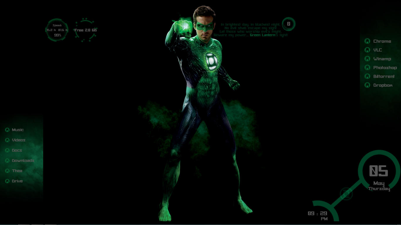 Google chrome theme iron man - Green Lantern Theme By Scrollsofaryavart