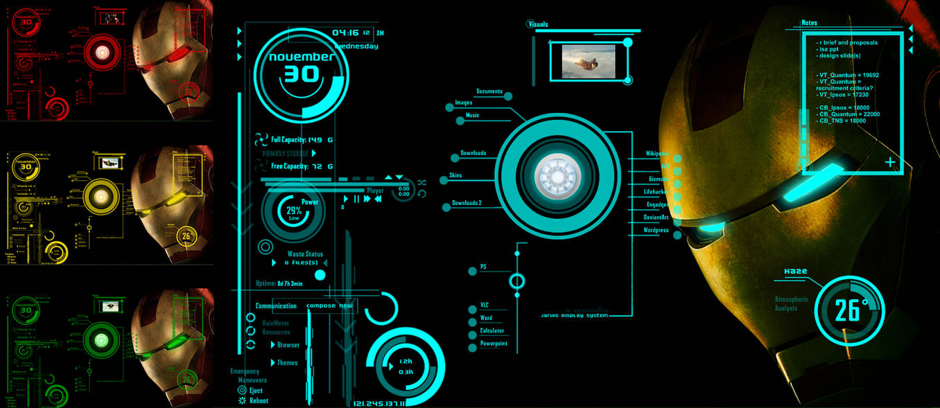 IronMan-Jarvis Theme Version 2 by scrollsofaryavart on DeviantArt