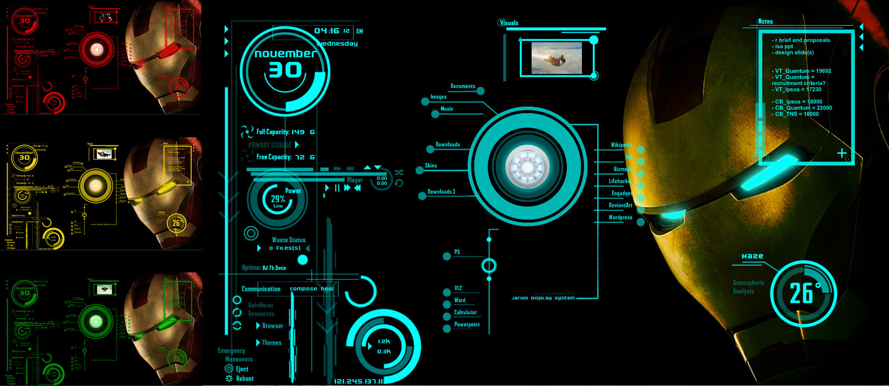 Ironman jarvis theme version 2 by scrollsofaryavart on for Deviantart rainmeter