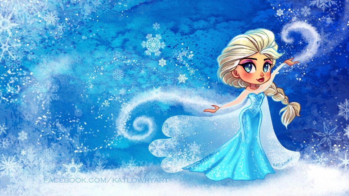 Free Elsa Desktop by FragileWhispers