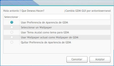 Change GDM GUI