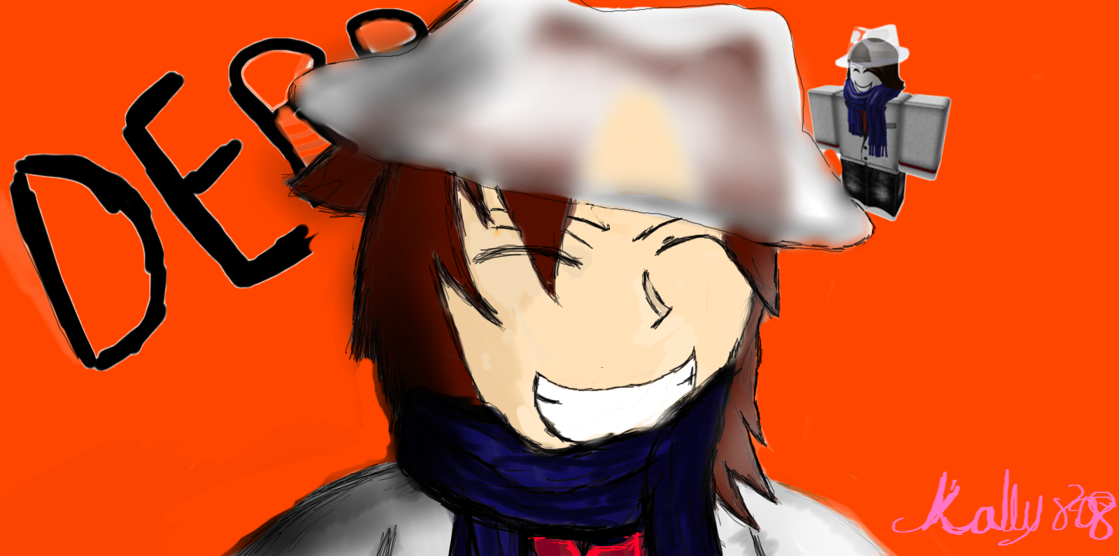 Roblox Character Anime Drawing Roblox Fan Art Daremetosingasong Drawing Roblox Character Art By Kally808 On