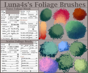 Foliage Brushes SAI2 - Downloadable
