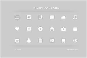 Simply Icons 32px by Metalbone1988
