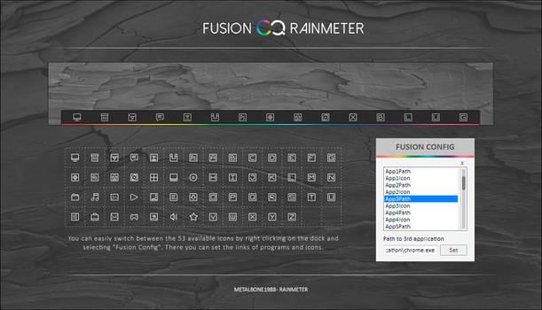 Fusion Rainmeter Dock