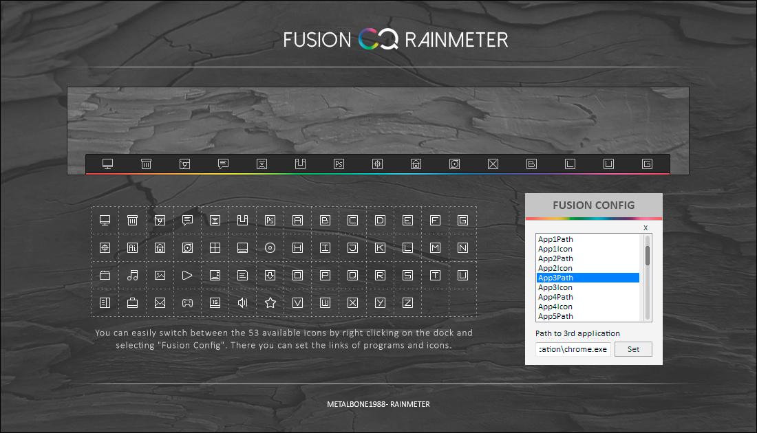 Fusion Rainmeter Dock by Metalbone1988