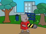 Chainsaw Cat by DeepSeaNinja