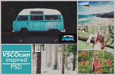 VSCO Cam inspired PSD