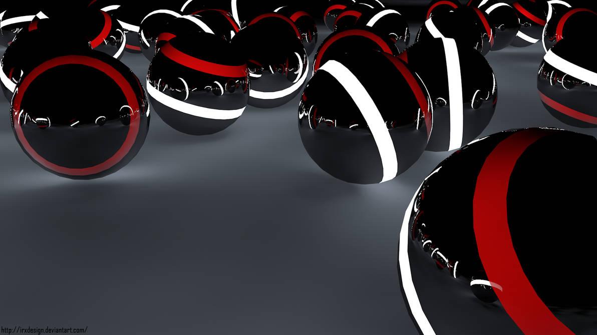 Ball Light Red+white+black