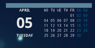 Lua Calendar for Conky by SG-Cyrax