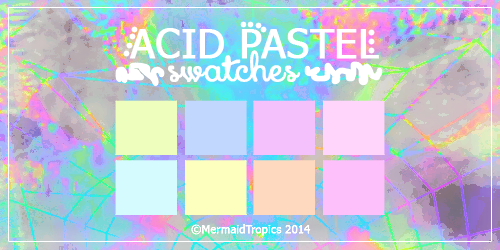 Acid Pastel Color Swatches .aco by MermaidTropics