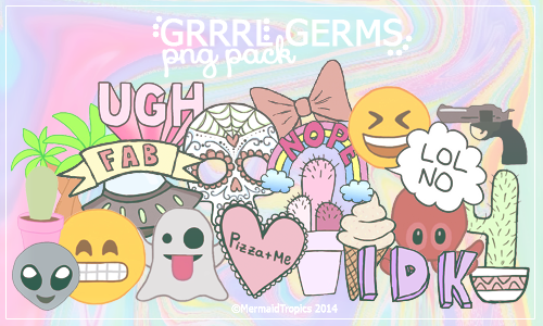 Grrrl Germs - Png Pack by MermaidTropics