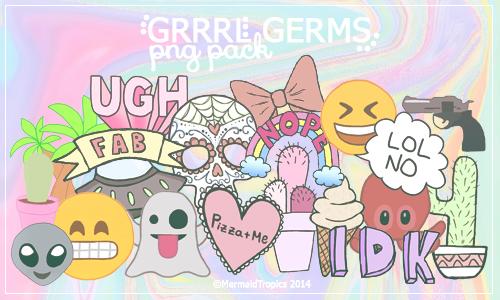 Grrrl Germs - Png Pack by MermaidTropics