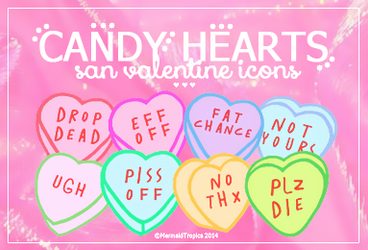 Candy Hearts Icons - .png and .ico