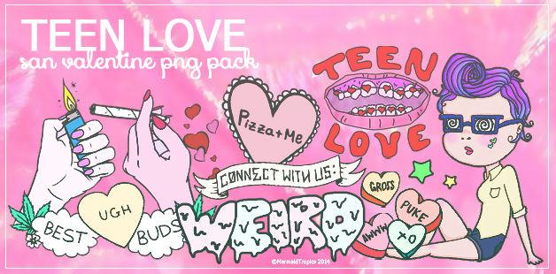 Teen Love - png pack