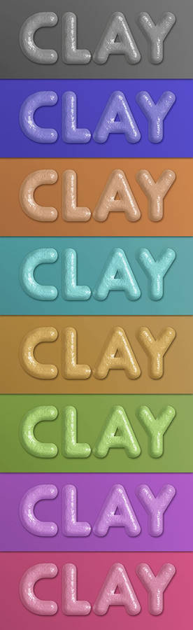 Free Clay Layer Style
