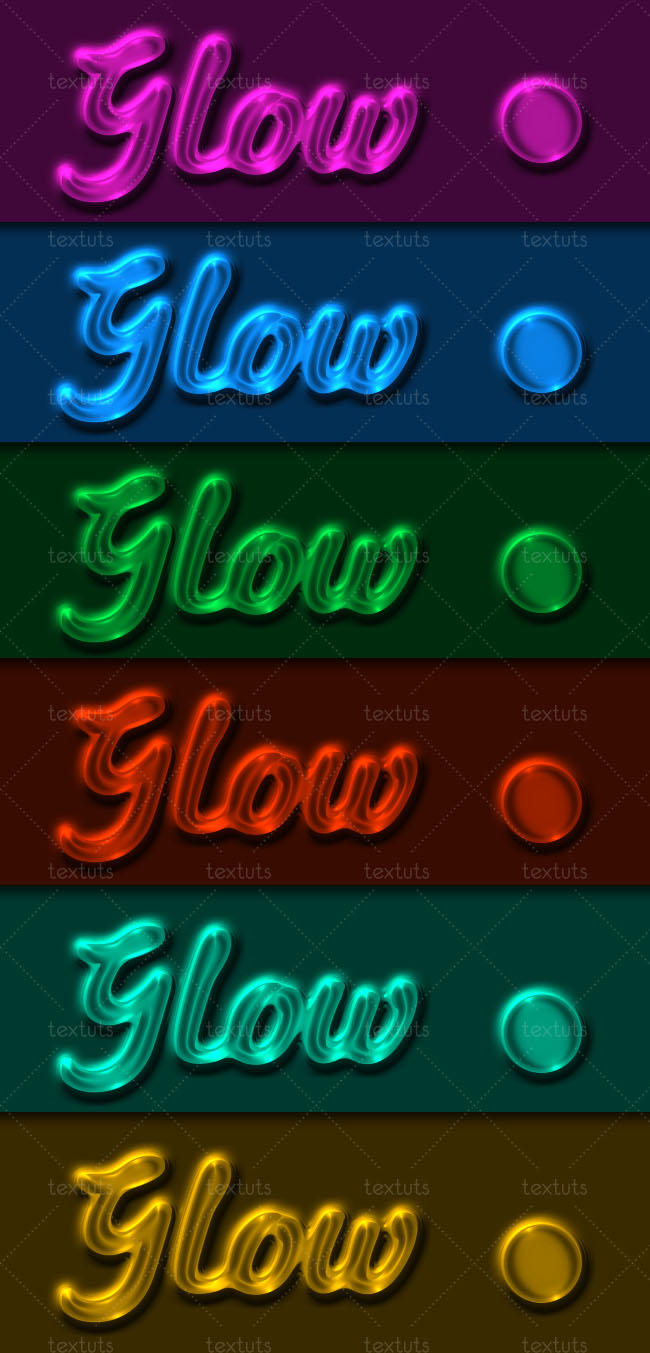 Transparent Glow Layer Style by Textuts