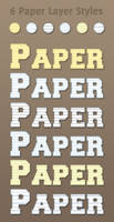 6 Free Paper Layer Styles