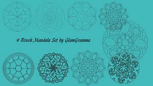 9 Brush Mandala Set