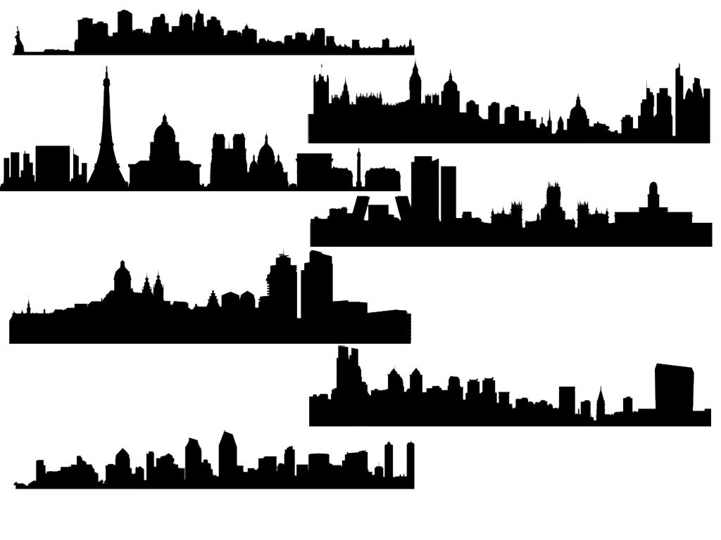 City Skyline Brushes-GIMP