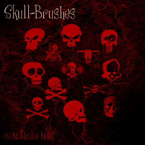 skull-brush-set