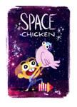 Space Chicken (((GIF))) by KassandraHeller