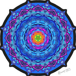Moving Mandala El Nucleo (Gif Animation) by AleLMT