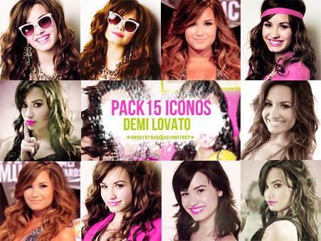 Pack 15 Iconos Demi Lovato by hardtotake