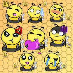 Bees Emotes For Twitch
