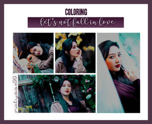 +PSD COLORING || Let's Not Fall In Love by PatyOOR99