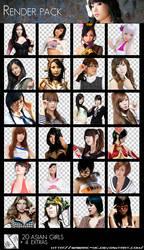 Renders Pack Asian Girls by Sabrac-MC