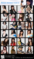 Renders Pack 2 - Asian Girls