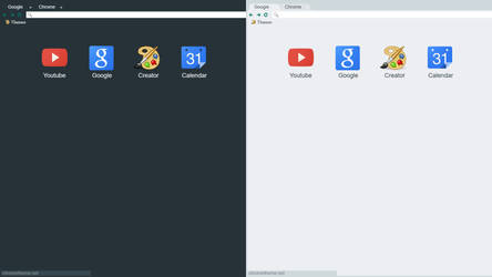 Dark/Light Flat Material X Chrome Themes (UPDATED) by SK-STUDIOS-DESIGN