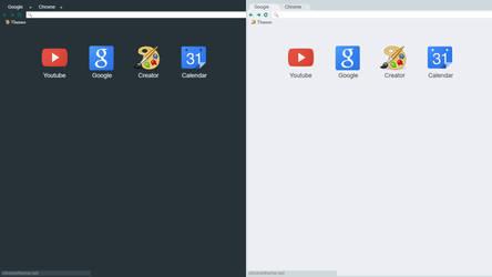 Dark/Light Flat Material X Chrome Themes (UPDATED)