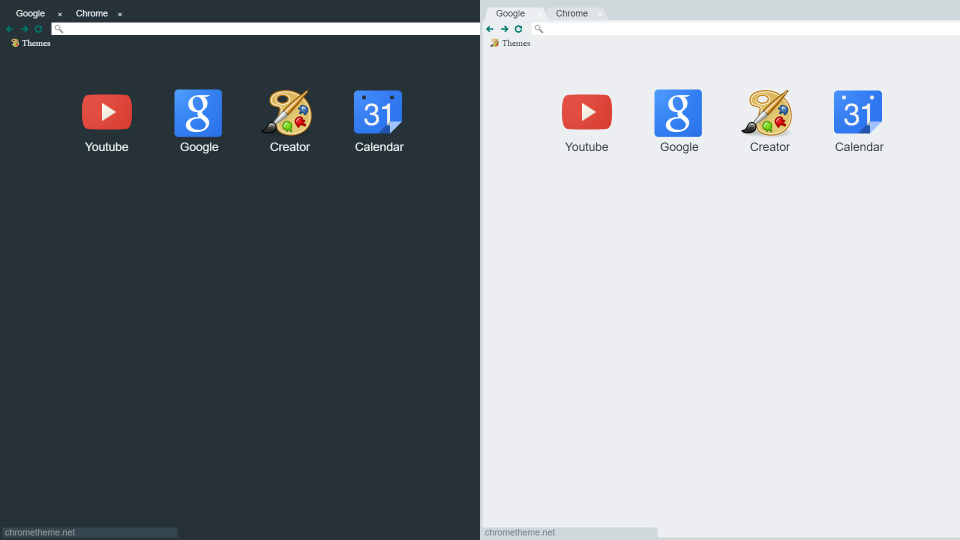 dark light flat material x chrome themes updated by sk studios